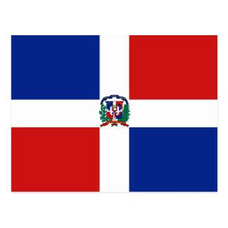 Carte postale de drapeau de la République Dominica