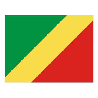 Carte postale de drapeau de la République du Congo
