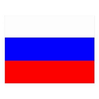 Carte postale de drapeau de la Russie