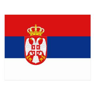 Carte postale de drapeau de la Serbie