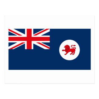 Carte postale de drapeau de la Tasmanie