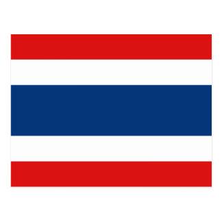 Carte postale de drapeau de la Thaïlande