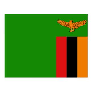 Carte postale de drapeau de la Zambie
