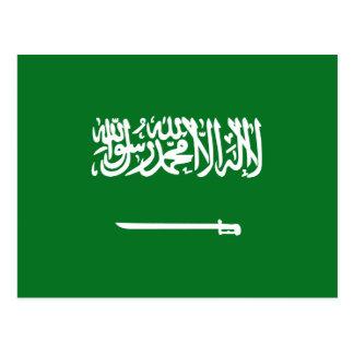 Carte postale de drapeau de l'Arabie Saoudite
