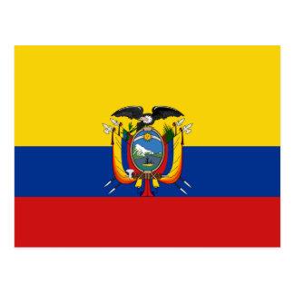 Carte postale de drapeau de l'Equateur