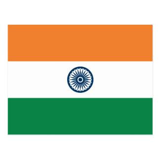 Carte postale de drapeau de l'Inde