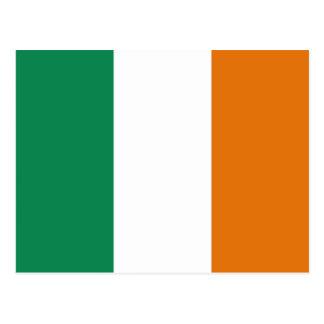 Carte postale de drapeau de l'Irlande