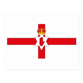 Carte postale de drapeau de l'Irlande du Nord
