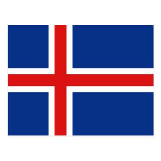 Carte postale de drapeau de l'Islande