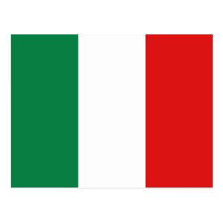 Carte postale de drapeau de l'Italie