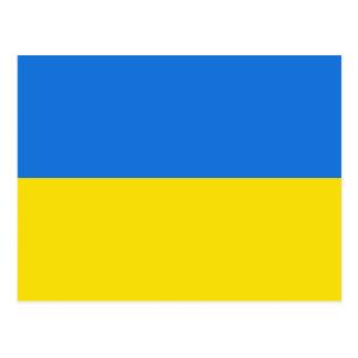 Carte postale de drapeau de l'Ukraine