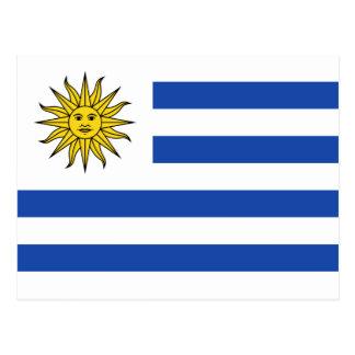 Carte postale de drapeau de l'Uruguay
