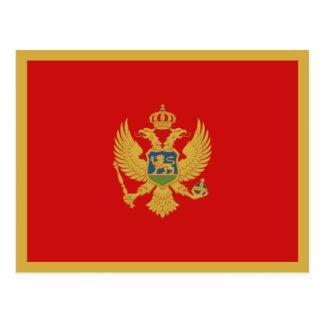 Carte postale de drapeau de Monténégro