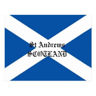 Carte postale de drapeau de Saint Andrews Ecosse