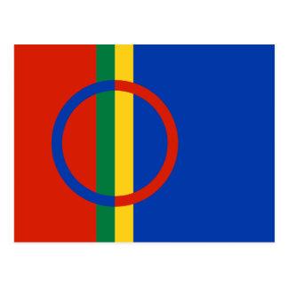 Carte postale de drapeau de Sami