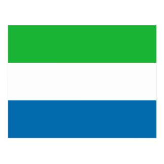 Carte postale de drapeau de Sierra Leone