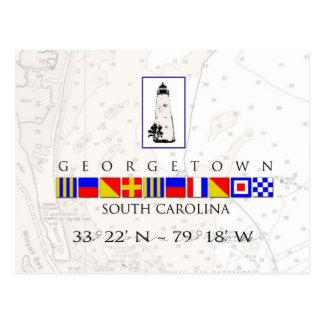 Carte postale de drapeau de signal de Sc de