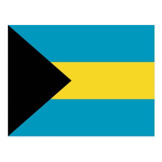 Carte postale de drapeau des Bahamas
