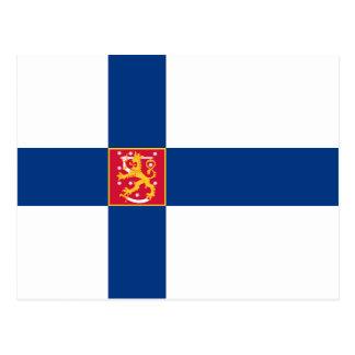 Carte postale de drapeau d'état de la Finlande
