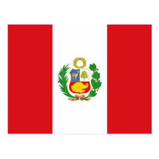 Carte postale de drapeau d'état du Pérou