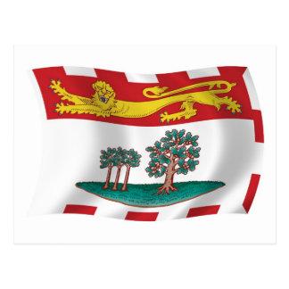Carte postale de drapeau d'île Prince Edouard