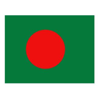 Carte postale de drapeau du Bangladesh