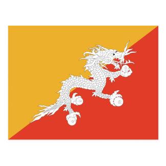 Carte postale de drapeau du Bhutan