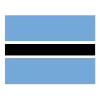 Carte postale de drapeau du Botswana