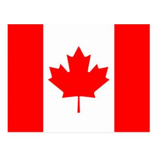 Carte postale de drapeau du Canada