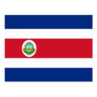 Carte postale de drapeau du Costa Rica