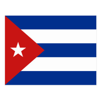 Carte postale de drapeau du Cuba