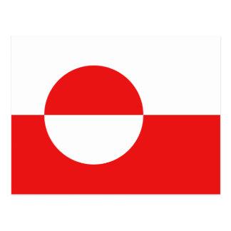 Carte postale de drapeau du Groenland