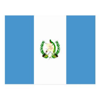 Carte postale de drapeau du Guatemala