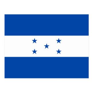 Carte postale de drapeau du Honduras