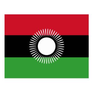 Carte postale de drapeau du Malawi