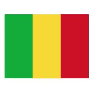 Carte postale de drapeau du Mali