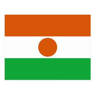Carte postale de drapeau du Niger