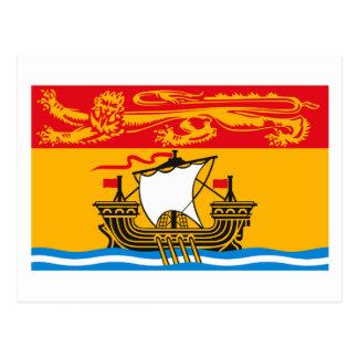 Carte postale de drapeau du Nouveau Brunswick