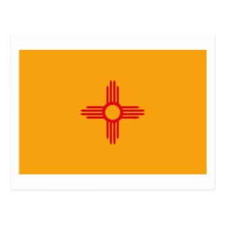 Carte postale de drapeau du Nouveau Mexique