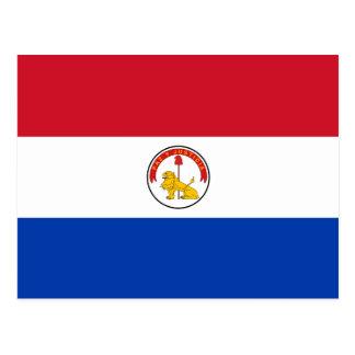 Carte postale de drapeau du Paraguay