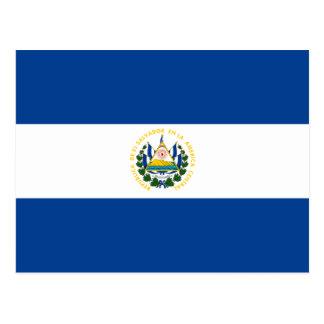 Carte postale de drapeau du Salvador