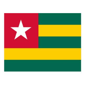 Carte postale de drapeau du Togo