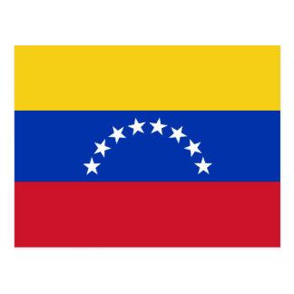 Carte postale de drapeau du Venezuela