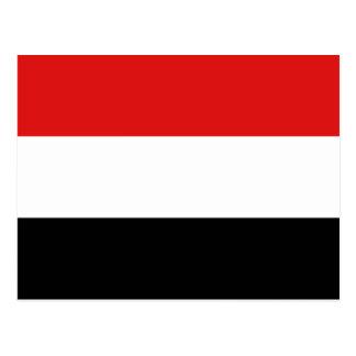 Carte postale de drapeau du Yémen