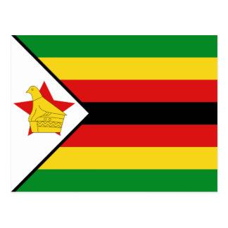 Carte postale de drapeau du Zimbabwe