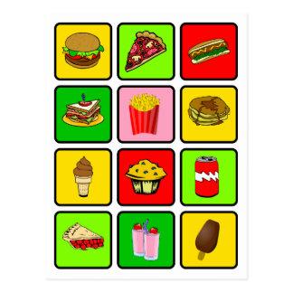 Carte postale de drogué d'aliments de préparation