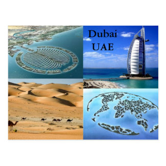 Carte postale de Dubaï EAU