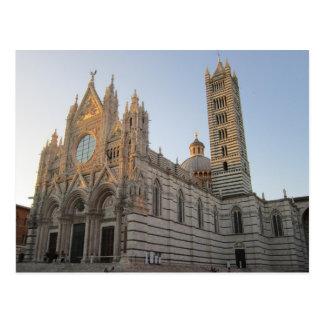 Carte postale de Duomo de Sienne