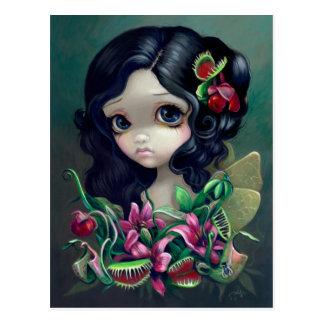 "Carte postale ""de fée carnivore de bouquet"""
