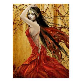 Carte postale de fée d automne
